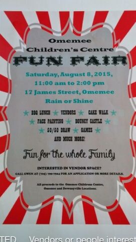 image Omemee Children's Centre Fun Fair Poster