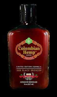 Tan Asz U Colombian Hemp Dark 50X Black Bronzer Tanning Bed Lotion *NEW*