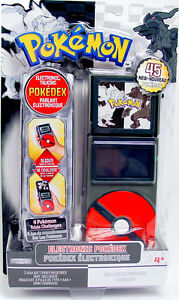 Pokemon Black & White Electronic POKEDEX Unova Region 2011 Jakks NEW Games Sound