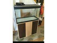 Fluval fish tank and cabinet like new