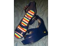 Purple wedges size 5