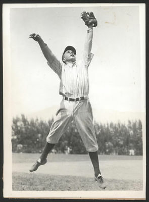 1935 Orig 1St Gen Press Photo   Frank Crossetti  Yanks