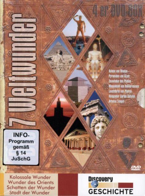 DVD-BOX NEU/OVP - 7 Weltwunder - 4 DVDs