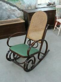 Bentwood rocking chair ready for recovering