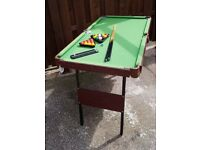 Kids snooker/pool table