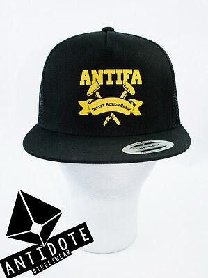 ANTIFA - Trucker Snapback Cap Motiv Antifa Direct Action Crew
