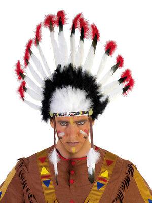 Rub - Karneval Zubehör Indianer Kopfschmuck Häuptling zum - Indianer Häuptling Kostüm Zubehör