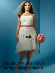 Robe mariage alfred angelo 14 ans