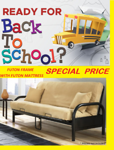BACK TO SCHOOL SPECIAL FUTON FRAME WITH THICK FUTON MATTRESS...