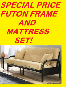 BACK TO SPRING  SPECIAL FUTON FRAME WITH THICK FUTON MATTRESS...