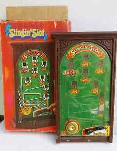 1973 Mattel Slingin Slot Machine Penny Arcade Game with Box West Island Greater Montréal image 1