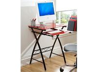 Glass Computer Desk-Black