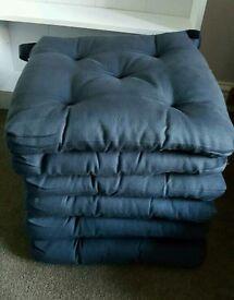 Chair cushions - set of 6 - dark blue