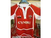 Very good conditon Welsh rugby t-shirt for 7-8 years old child
