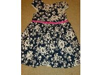 Girls flowery dress 7-8 years