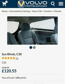 Genuine Volvo c30 window shades/blinds