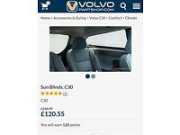 Genuine Volvo c30 window shades/blinds