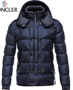 Mens MONCLER rare style NAVY tortoiseShell buttons Large