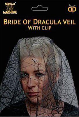Schwarz Braut Dracula Schleier Kostüm Halloween Zubehör Tag der - Tote Braut Kostüm Zubehör