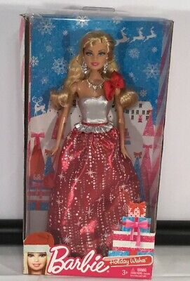 Barbie Holiday Wishes Doll in Red & Sliver Dress Christmas Barbie new in box