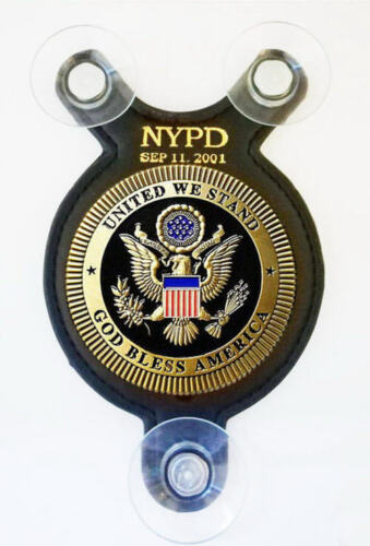 item not available until 05/07/2021 *** Sep 11. 2001 NYPD car shield ***