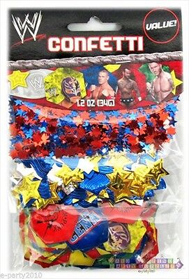 WWE WRESTLING CONFETTI VALUE PACK (3 types) ~ Birthday Party Supplies Decoration - Wwe Birthday Party Supplies