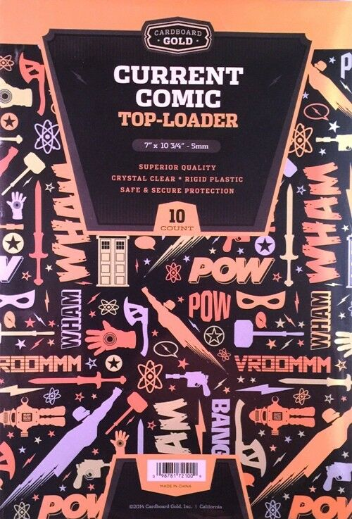 (100) CBG CURRENT MODERN AGE COMIC BOOK RIGID TOPLOADER DISPLAY STORAGE HOLDERS