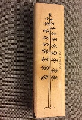 Pine Tree Rubber Stamp, Pre-owned, 1.25