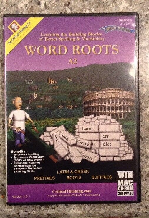 The Critical Thinking Co. WORD ROOTS A2 Grades 4-12+