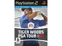 Tiger Woods PGA Tour 07 PS2 game