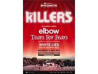 The Killers at Hyde Park, 2x tickets, 8th July 2018, Priority Entry