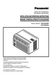 Panasonic Room Air Conditioner 5800 BTU