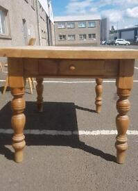 Pine farmhouse table with 5 chairs
