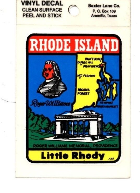 Lot of 12 Rhode Island Souvenir Luggage Decals Stickers - New - Free S&H