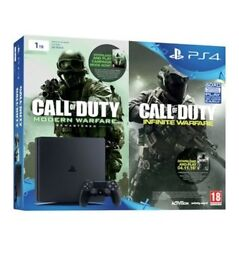 Brand New : PS4 1TB Bundle includes Infinate warfare & Modern Warfare 4 Remastered