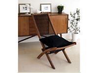 Ikea teak string Brommo Designer chair IKEA indoor / outdoor lounger