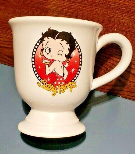 """VINTAGE 2006 BETTY BOOP Pedestal Mug """"Boop-Opp-A-Doop"""" & """"Kiss"""" RARE MINT NEW"""