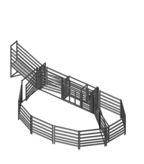 CATTLE YARDS 15 to 20 head working capacity - 35 head holding