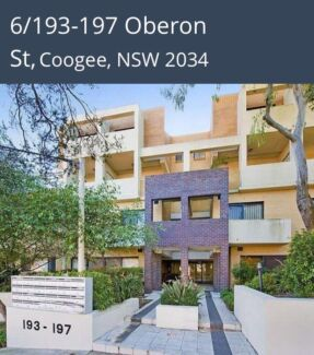 1 bed apartment in Coogee with parking