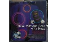 Heated massage seat and backrest cushion
