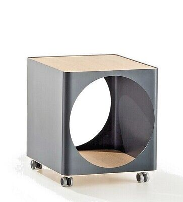 JOE COLOMBO RING SIDE TABLE Gray ORGANIZER STORAGE B-LINE MADE in ITALY