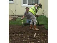 Father and Daughter Landscape Gardening and building work