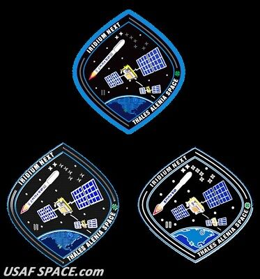 Authentic Iridium Next Launch 2   Pin Patch   Sticker Set   Spacex Falcon 9 Usaf