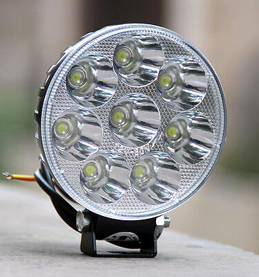 12V 24W LED Light Motorcycle Moped Boat Off Road Waterproof Headlight Spot Light