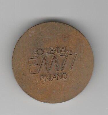 Orig.Teilnehmermedaille   Volleyball Europameisterschaft FINNLAND 1977 !! SELTEN