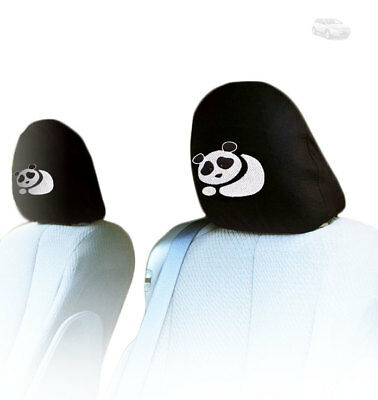 FOR FORD NEW PAIR INTERCHANGEABLE PANDA  CAR SEAT HEADREST COVER GREAT GIFT IDEA - Fiesta Ideas