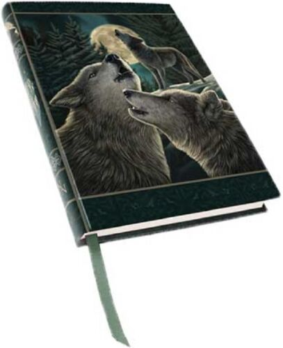 Anne Stokes Wolf Song Embossed Spell Journal Grimoire BOS  Wicca Pagan