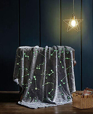 GLOW IN THE DARK INTERSTELLAR GLOW STARS Light Weight KIDS Throw Blanket 50