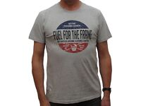 New - Guy Martin Red Torpedo Fuel For The Frame T Shirt - Grey