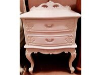 French rococo style heavy mahogany bedside drawers Shabby Chic